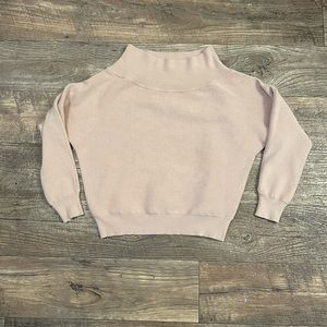 Lulus nude off the shoulder cropped sweater